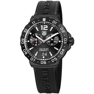 Tag Heuer Men's WAU111D.FT6024 'Formula 1' Anthracite Dial Black Rubber Strap Alarm Quartz Watch