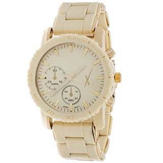 Xtreme Women's Gold Case and 2 Eyes on Dial with Beige Rubber Strap Watch