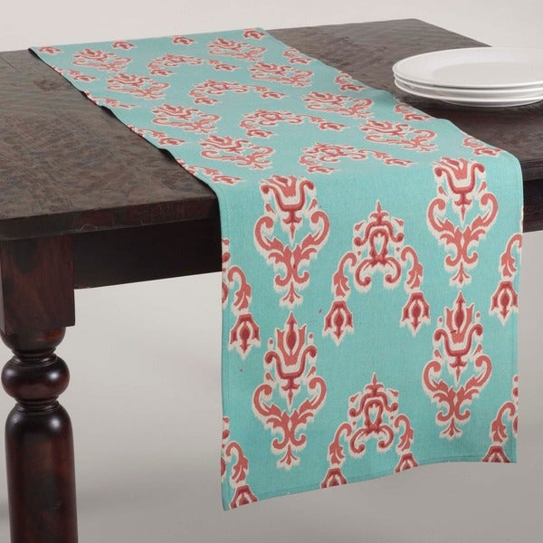 Ikat Design Duck Egg Blue Runner