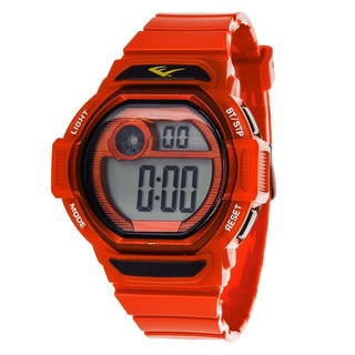 Everlast Retro Men's Digital Square Sport Red Digital Watch with Silicone Strap