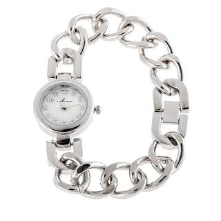 Via Nova Women's Silver Case with Silver Chain Strap Slim Watch