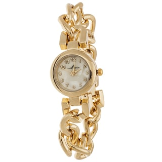 Via Nova Women's Gold Case with Gold Chain Strap Watch