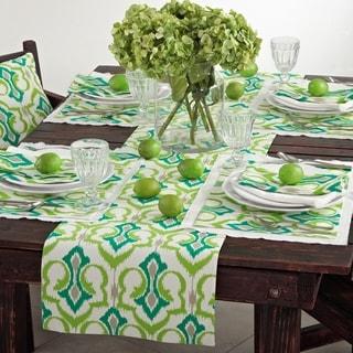 Ikat Design Printed Table Linens (set of 4)