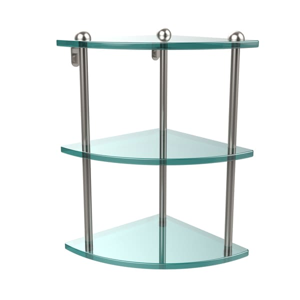 Triple Tempered Glass Corner Shelf