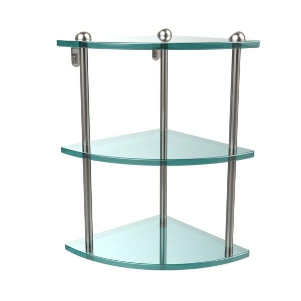 Triple Tempered Glass Corner Shelf