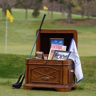 Warm Oak Finish Golf Themed Par 3 Life Chest