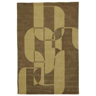 Somette Trio Fuse Olive/ Brown Area Rug (8' x 10')