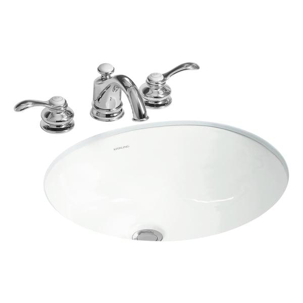 Wescott White Undercounter Bathroom Sink