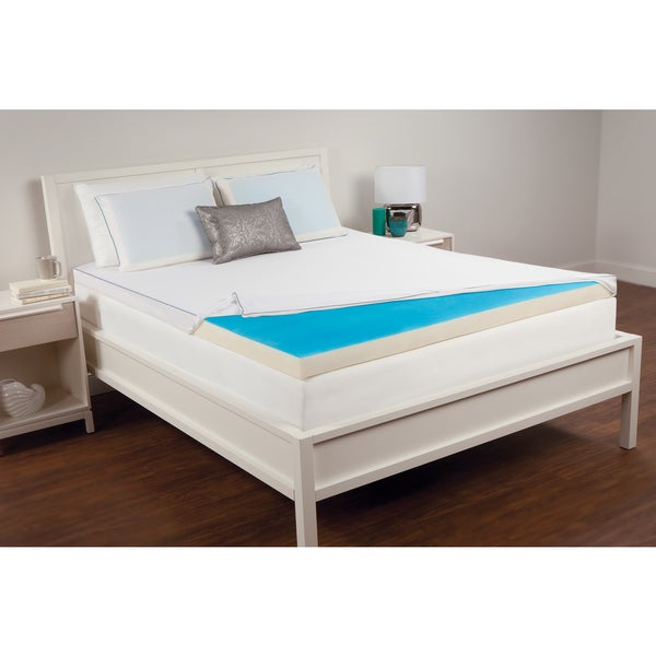 Comfort Memories 2.5-inch Hydraluxe Gel and Memory Foam Mattress Topper