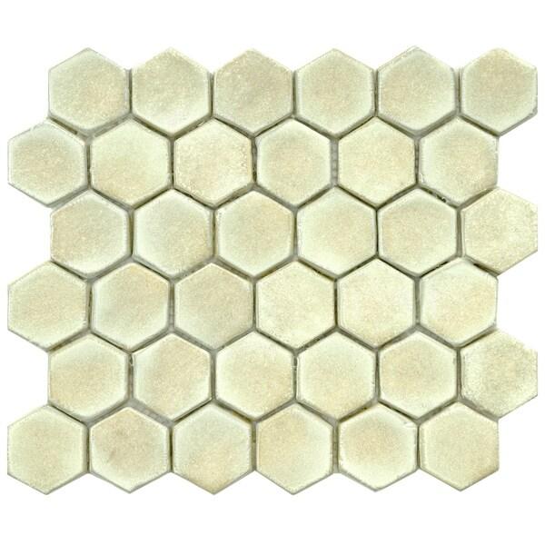 Somertile london hexagon polar ceramic for 10 inch floor tiles