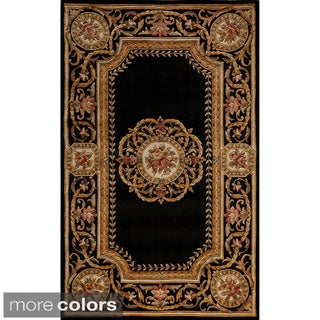 Aubusson Medallion Hand-tufted Wool Area Rug (2' x 3')
