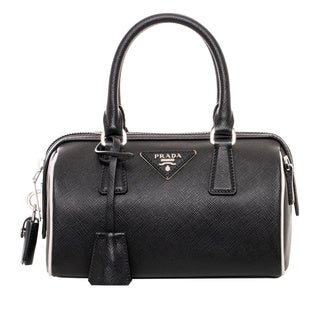 Prada Mini Black Saffiano Leather Top Handle Bag