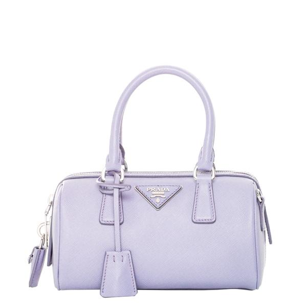 prada cross body bags leather - Prada Lavender Mini Saffiano Leather Top Handle Bag - 17115666 ...