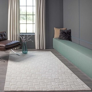 Manhattan Basketweave Wool Area Rug (2'3 x 8')
