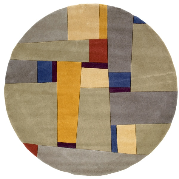 New Wave Kenwood Hand-tufted Wool Area Rug (7'9 Round) (As Is Item)
