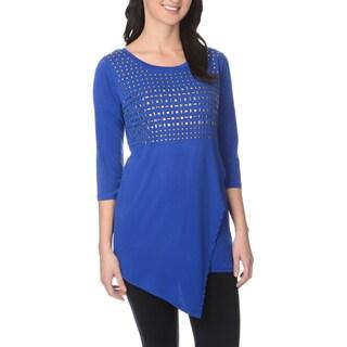 Belldini Women's Royal Blue Mixed Stud Top