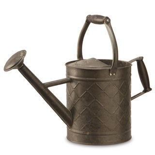 12-inch Antique Black Metal Watering Can