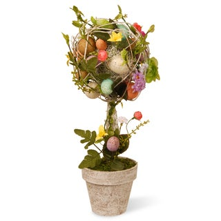 17-inch Easter Topiary with Eggs/ Flowers/ Twigs