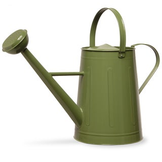 17-inch Green Metal Watering Can