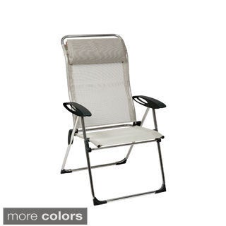 Cham'elips XL Aluminum Folding Chair with Adjustable Back (Set of 2)