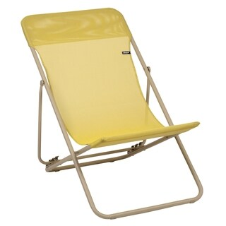 Maxi Transat Sand Folding Sling Chair (Set of 2)