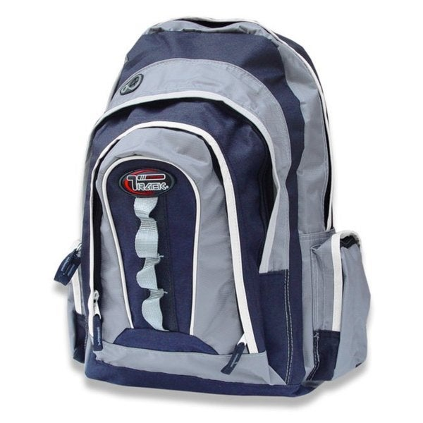 Multi-Purpose Back to School Extra Storage Navy/ Silver Backpack