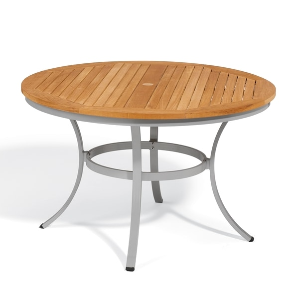 Oxford Garden Travira 48-inch Round Dining Table