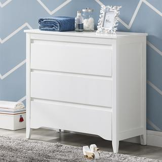 Baby Relax Aaden Two-toned White/ Grey 3-drawer Dresser