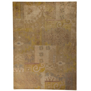 Hand-tufted Sara Beige New Zealand Wool Rug (6'6 x 9'6)