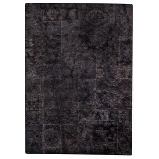 Hand-tufted Sara Dark Grey New Zealand Wool Rug (6'6 x 9'6)