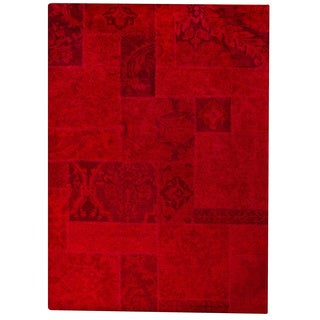 Hand-tufted Sara Red New Zealand Wool Rug (6'6 x 9'6)