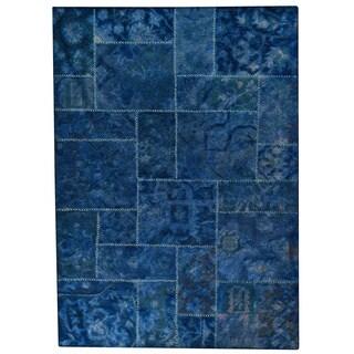Hand-tufted Sara Blue New Zealand Wool Rug (7'10 x 9'10)