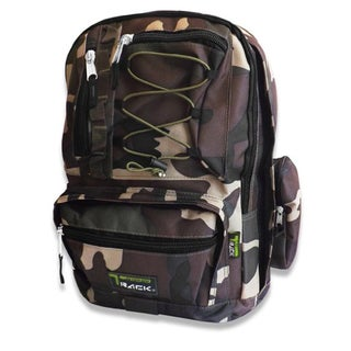 Extra Storage School Camouflage Backpack with Cell Phone Holder