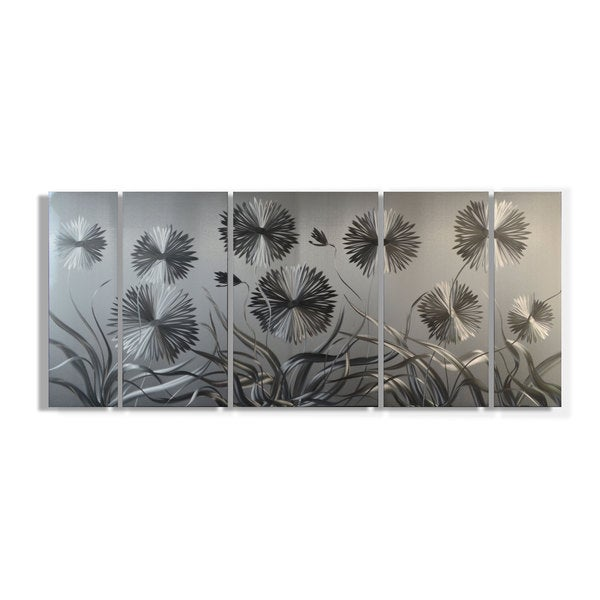 Metal Artscape 'Pushing Daisies XL Metal Wall Art