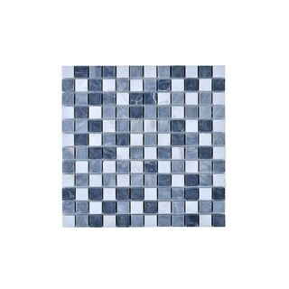 Multi-square Grey Mesh Mounted Wall Tile (Pack of 11)