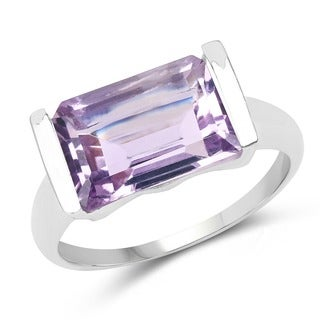 Malaika Sterling Silver Amethyst 3.8ct TGW Ring