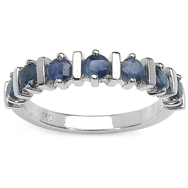 Sterling Silver Blue Sapphire .9ct TGW Ring