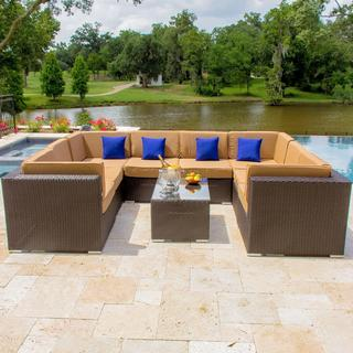 Avery Island 9-piece Resin Wicker Patio Sectional Set