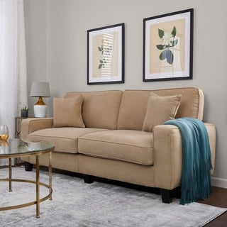 Serta RTA Martinique Collection 78-inch Navarre Beige Fabric Sofa