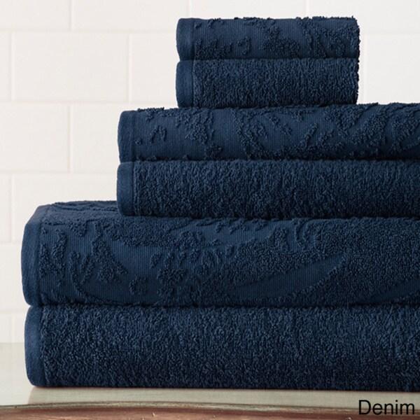 6-piece Jacquard Vintage Floral Towel Set