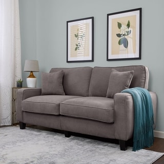 Serta at Home Sofa2Go Martinique Collection Kona Grey Fabric Sofa