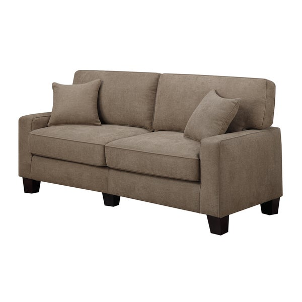 Serta rta martinique collection 78 inch earth fabric sofa for Sofa 84 inch