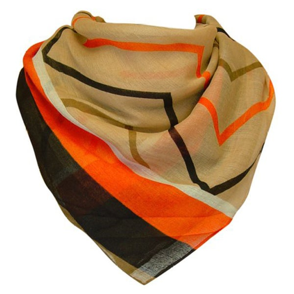 Multicolored Chevron Pattern Sheer Scarf