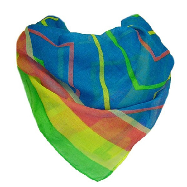 Colorful Chevron Pattern Lightweight Scarf