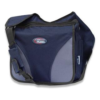 Navy Crossbody Laptop Messenger Shoulder Bag