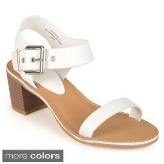 Journee Collection Women's 'Yasmin' Open Toe Ankle Strap Heels
