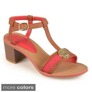 Journee Collection Women's 'Hazel' T-strap Heeled Sandals