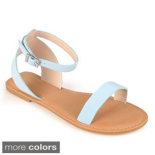 Journee Collection Women's 'Magnolia' Ankle Strap Flat Sandals