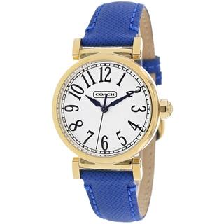 Coach Women's 14501865 Madison Round Blue Leather Strap Watch