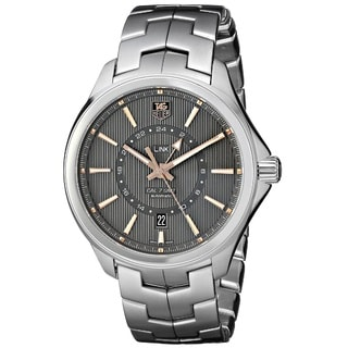 Tag Heuer Men's WAT201C.BA0951 'Link Calibre 7 GMT' Stainless Steel Watch
